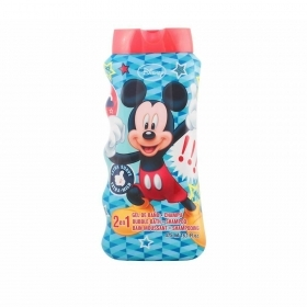 Diseny Mickey Mouse 2 In 1 Bagnoschiuma E Shampoo Per Bambini 475 Ml