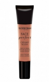 DEBORAH FACE PERFECT CREAMY BLUSH FARD IN CREMA TEXTURE LEGGERA 15ml 01 APRICOT